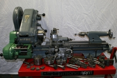 Myford Super 7 lathe with gearbox