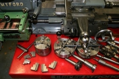 Chucks and tooling for Myford Super 7 lathe