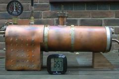 Pressure check of the boiler
